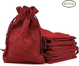 Baosity Pochette /à Bijoux Sachet Cadeau /à Corde Serrage Sac en Tissu Rouge 10pcs