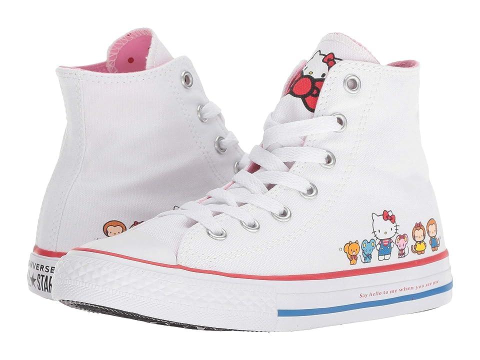 Converse Kids Hello Kitty(r) Chuck Taylor(r) All Star(r) Hi (Little Kid) (White/Prism Pink) Girl