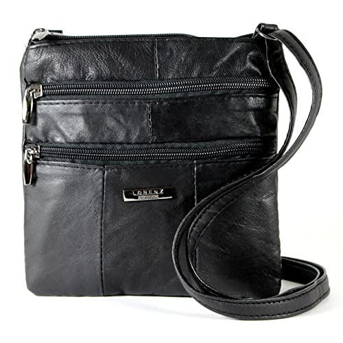 3dc7962bbd Lorenz Ladies Small Genuine Soft Leather Cross Body   Shoulder Bag (1)    1941