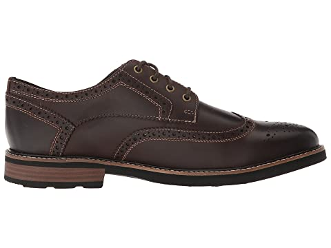 KORE Nunn CHRustTan TumbledBrown Black Technology Wingtip Comfort Oxford Walking Bush with CH Oakdale qRwaFRO