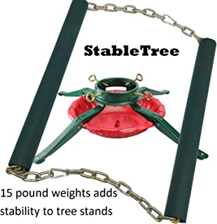 Keyfit Tools StableTree Christmas Tree Stand Extra Weights 15 Pounds of Extra Weight, Add Stability to Your Xmas Tree Base, Reduce The Chance of The Tree Tipping Over