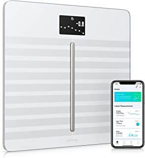 Withings Body Cardio Báscula inteligente con conexión Wi-Fi, composición corporal, frecuencia cardíaca, IMC, masa muscular, grasa y porcentaje de agua corporal, aplicación móvil por Bluetooth o Wi-Fi