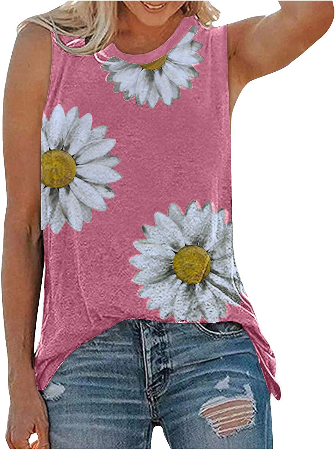 Gerichy Tank Tops for Women Fashion, Summer Tops for Women 2021 Women Summer Sleeveless Vest Top Octopus Print Tank Top Vest Notes Strappy Tops
