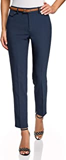 oodji Collection Donna Donna Pantaloni Classici con Piega
