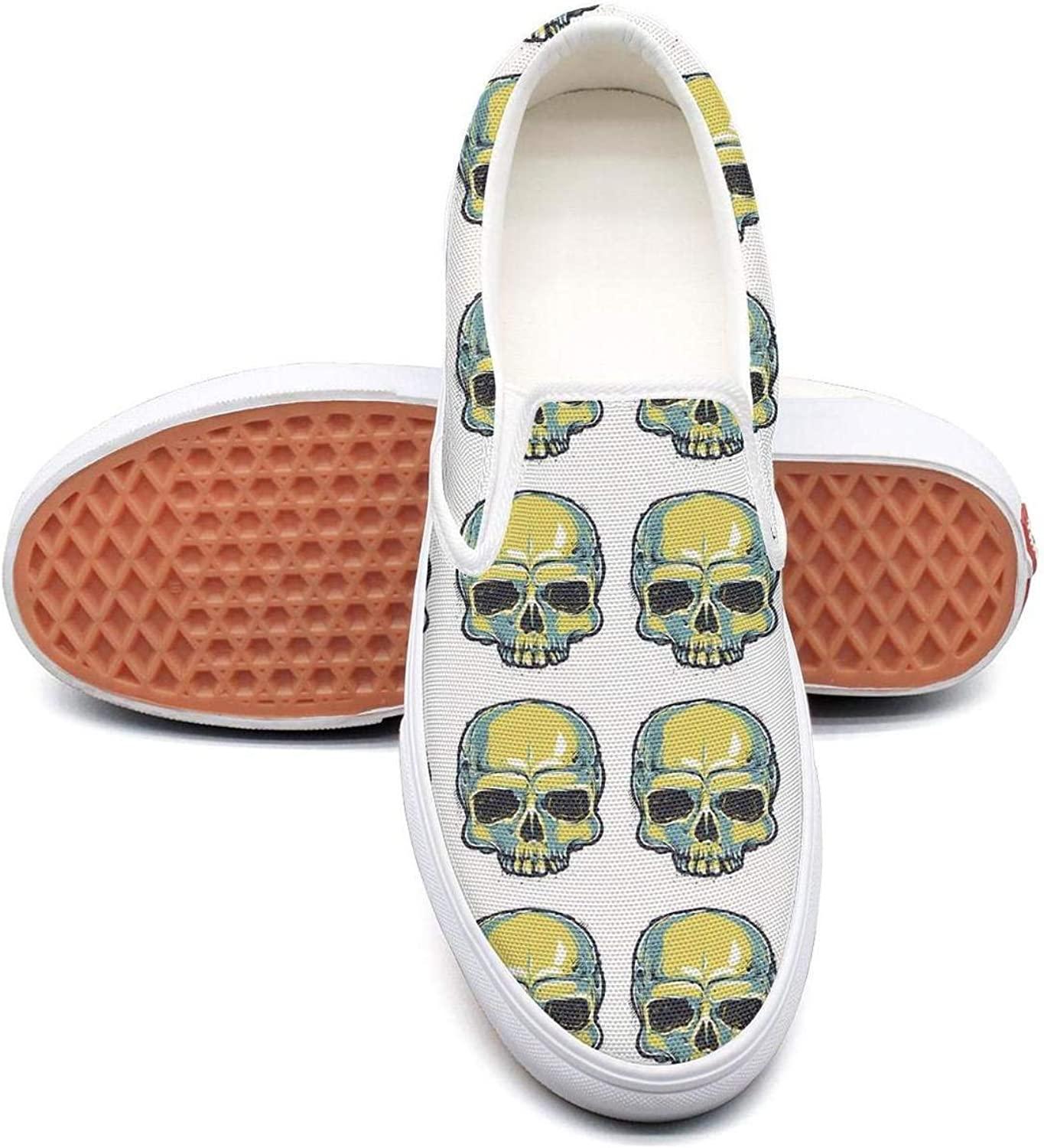 Skull Skull Want U Slip On Canvas Upper Sneakers Canvas shoes for Women Fashion