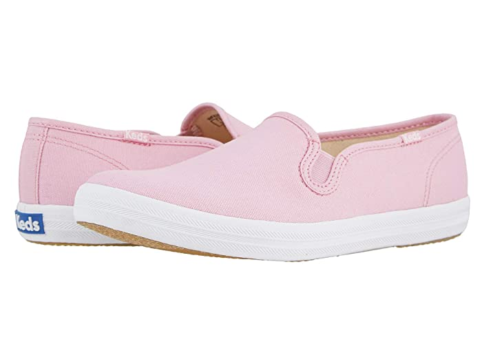Retro Vintage Flats and Low Heel Shoes Keds Champion Slip-On Seasonal Solids Pink Womens Shoes $39.99 AT vintagedancer.com