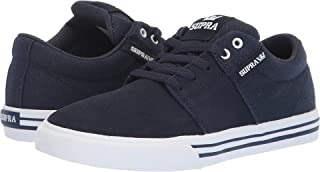 Supra Children Youths Stacks Vulc II Burgundy White Skate Shoes