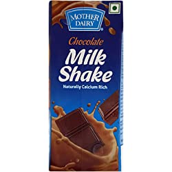 Mother Dairy Chocolate - Milk Shake, 200ml Pack