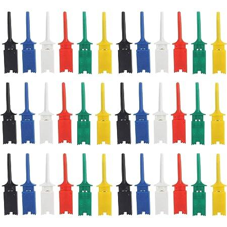 Elektronische Mini Test Sonde Set Ic Haken Test Clip Mini Grabber 6 Farbe Test Probe Haken Für Repair Tool Pcb Tester Grabber Multimeter Pinzette Clip 6 Farben 30 Stücke 50 Mm Baumarkt