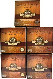 Rum Cake by Wicked Jack's Tavern Original Authentic Rum Cake Assortment - Butter Rum, Red Velvet Rum, Chocolate Rum, Chocolate Chip Rum and Rum Raisin, 4-oz Boxes (Pack of 5)
