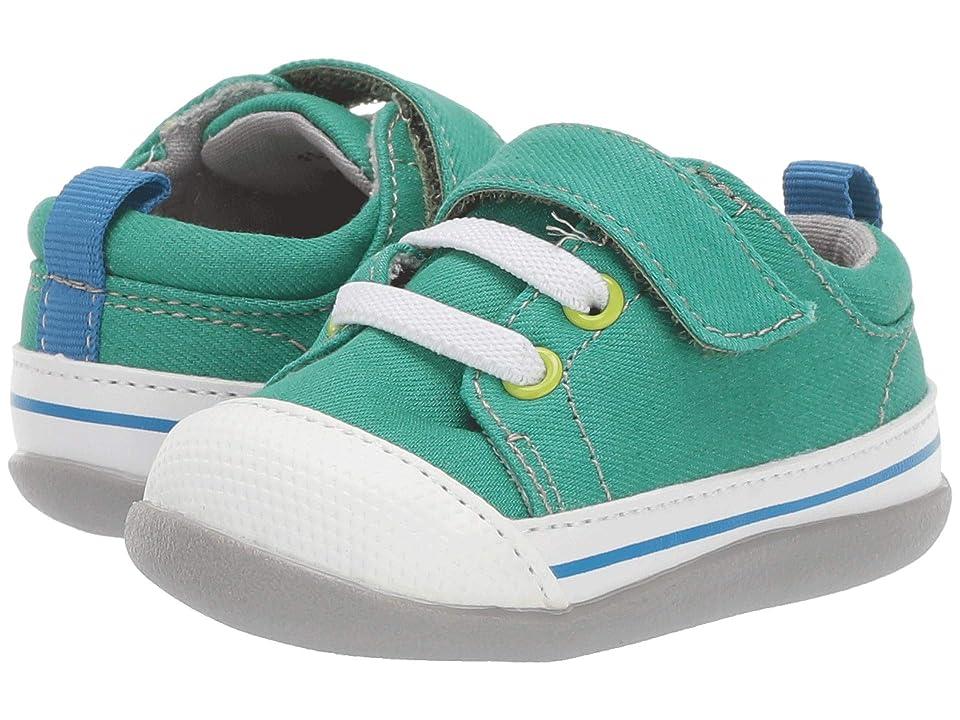 See Kai Run Kids Stevie II (Infant/Toddler) (Green Denim) Boy