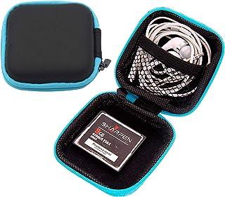 TECHVIDA Earbuds Case, Pocket Case, Hard EVA Structure, for Headphones, earpods, Headphones, USB Flash Drive, SD Card Cabl...