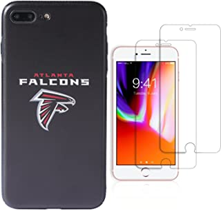 "Sportula NFL Phone Case for iPhone 7 Plus/iPhone 8 Plus (5.5""), Give 2 Premium Screen Protectors Extra Value Set (Atlanta Falcons)"
