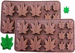 Set of 2 X Silicone Marijuana Lollipop Gummy Brownies Had Candy Cannabis Weed Edible Leaf Mold Ice Cube Chocolate Soap Candle Tray Party Maker