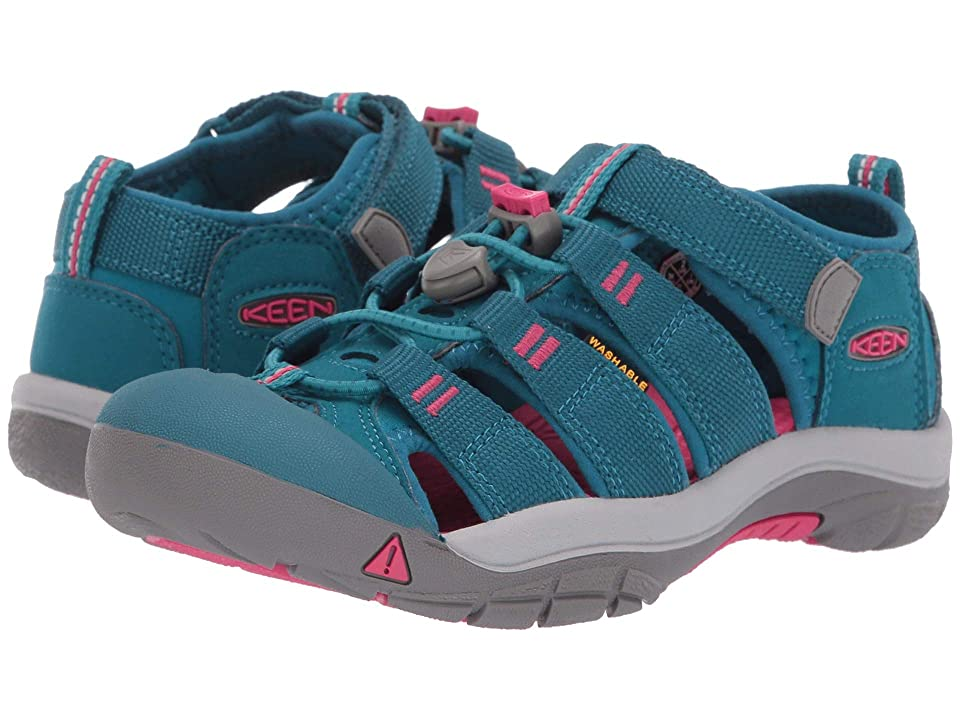 Keen Kids Newport H2 (Little Kid/Big Kid) (Deep Lagoon/Bright Pink) Girls Shoes