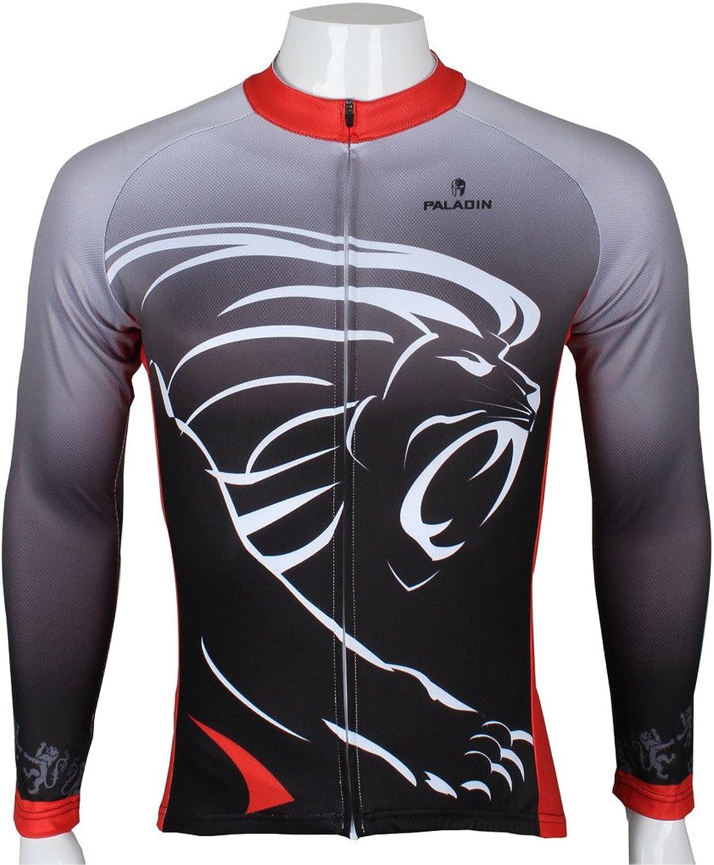 Paladinsport Black Men's Winter Polyester Fleece Long Sleeve Cycle