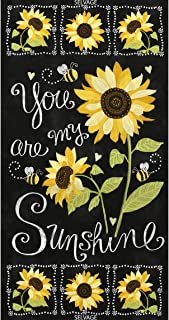 Timeless Treasures Fabrics You are My Sunshine Sunflowers and Bees Black 24