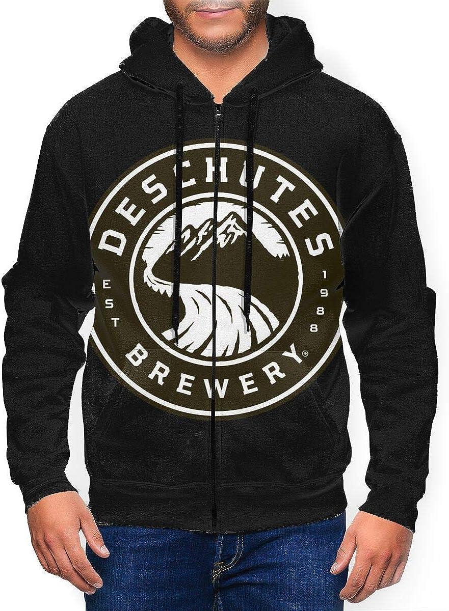 Deschutes-Brewery-Beer Men 3D Print Athletic Sweats Max 73% OFF Zip Mail order Full Fit