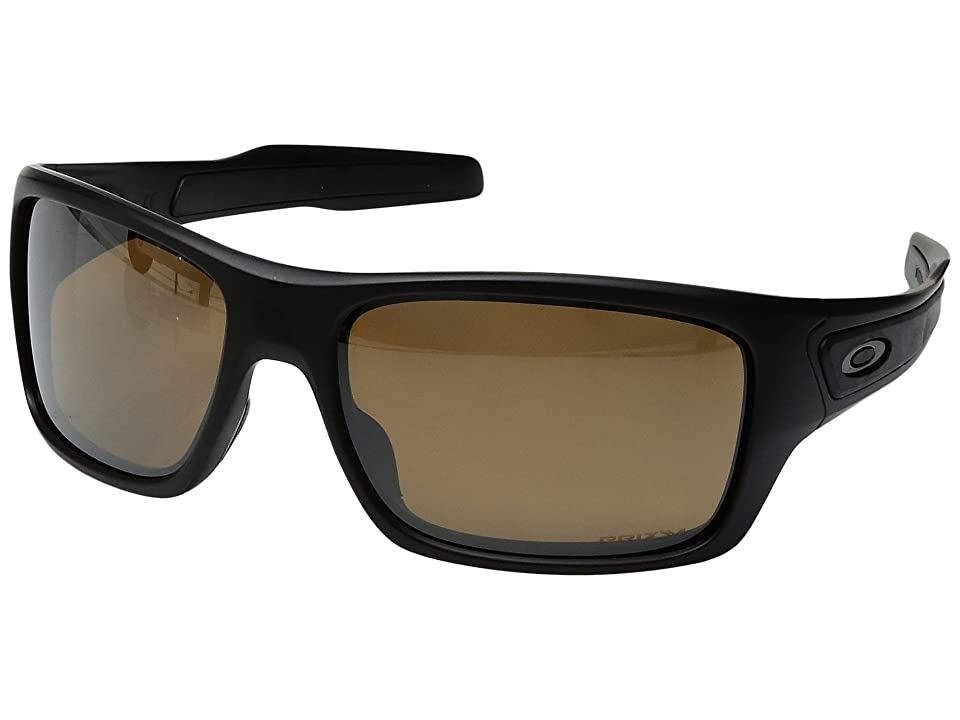 Oakley Turbine (Matte Black w/ Prizm Tungsten Polarized) Fashion Sunglasses