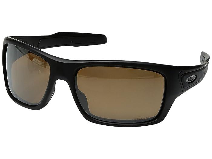 Oakley Turbine (Matte Black w/ Prizm Tungsten Polarized) Fashion Sunglasses