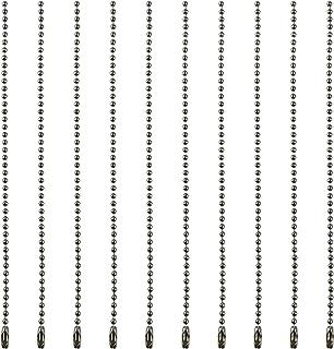 ボールチェーン コネクター付き シルバー ストラップ くさり キーホルダー アクセサリー材料 全長約15cm ボール径2.4mm 100本セット
