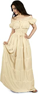 Renaissance Peasant Faire Gown Boho Hippie Sun Maxi Dress