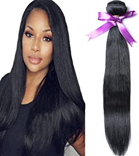 Angie Queen Unprocessed Brazilian Virgin Hair Straight Hair One Bundle 22inch Cheap Virgin Human Hair Extension Natural Color (100+/-5g)/bundle Can be Dyed and Bleached