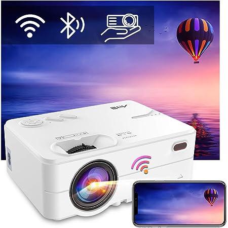 Proyector Bluetooth WiFi, Mini proyector portátil Artlii Enjoy2, Compatible con 1080p Full HD, proyector de Cine en casa de Gran tamaño, Adecuado para teléfonos Inteligentes / Android / iOS