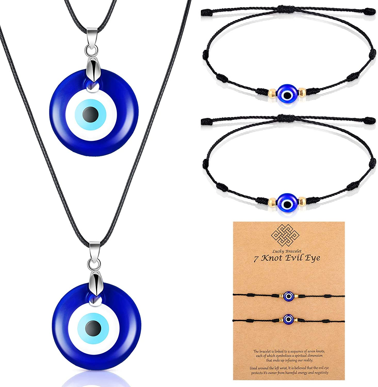 Evil Eye Necklace with Jew Indefinitely Bracelet Protection Purchase