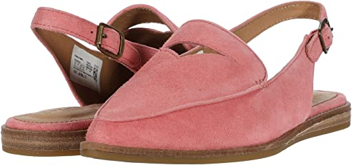 Coral Pink Nubuck Leather