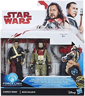 Star Wars Force Link 2 Figure Pack - Chirrut Ímwe & Baze Malbus 3.75-inch-Scale
