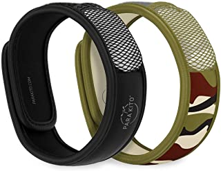 PARA'KITO Mosquito Repellent Pack - 2 Wristbands | 2 Refills (Black + Jungle)