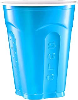 Solo Squared Party Cups, 18 Ounce, Summer Blue, 100 Cups