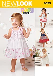 Simplicity Vintage New Look Patterns UN6353A Babies' Dresses and Panties, A (NB-S-M-L)