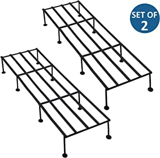 WINTECH Iron Plant Stand/Pot Stand 25 inches Upto 75 kgs (Rectangular Stand Set of 2)