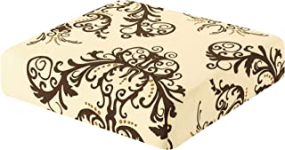 TIKAMI Printed Stretch Couch Cushion Cover High Elastic Spandex Cushion Slipcover Furniture Protector for Sofa Seat 1 Seater(Coffee)