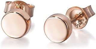 Minimalist Earrings Sterling Silver Dot Circle Earrings Round Disc Earrings Tiny Stud Earrings for Women