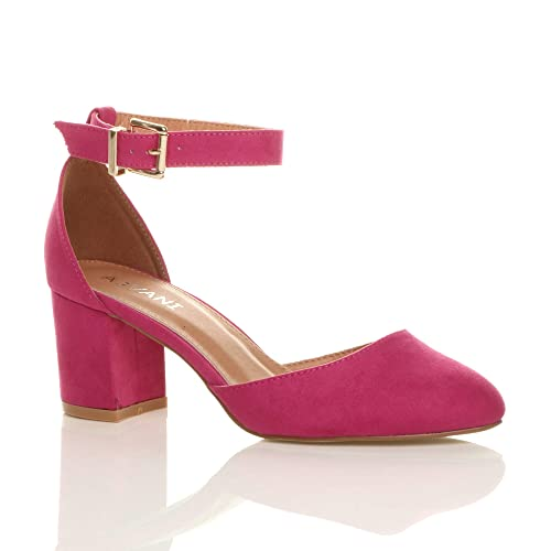 2a15c6d8796 Pink Block Heel Shoes: Amazon.co.uk