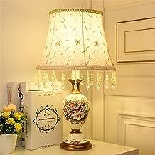 Desk lamp Bedroom Bedside lamp Bedside Hotel Club Decoration Desk lamp,E,Telecontrol Timing