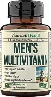 Men's Daily Multivitamin/Multimineral Supplement - Vitamins A C E D B1 B2 B3 B5 B6 B12. Magnesium, Biotin, Spirulina, Zin...