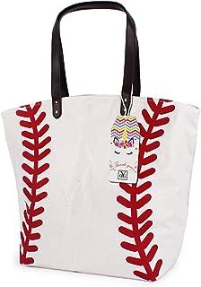 Baseball Bag Handbag for Woman Shopping Bag Travel Bag Canvas Casual Bag with Polyester Linning Sports Bag