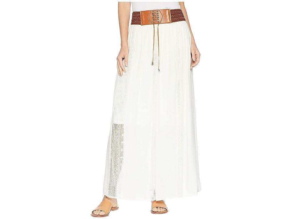 Wrangler Boho Maxi Skirt (Ivory) Women
