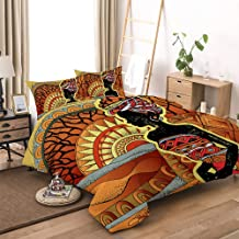 for Girls Boys,The Shadow of African Women Christmas Bedding Sets,Full Size 1 Comforter Cover with 2 Pillow Cases YEHO Art Gallery Soft 3 Piece Duvet Cover Set