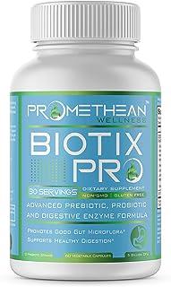 Biotix PRO Advanced Prebiotics and Probiotics Plus Digestive Enzymes Supplements for Men and Women Rebalance Your Gut Micr...
