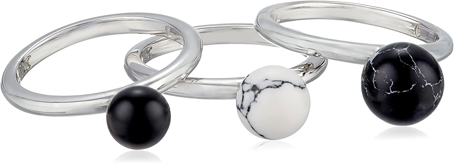 Noir Jewelry Fixed price New mail order for sale Semi Precious Sphere Stackable Ring
