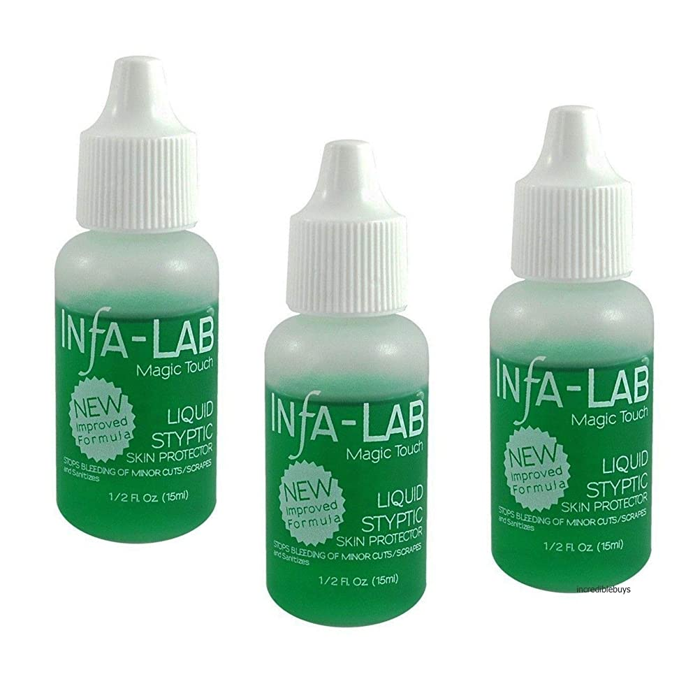Infalab Magic Touch Liquid Styptic Skin Protector Stop Bleeding Cuts (3 pieces)