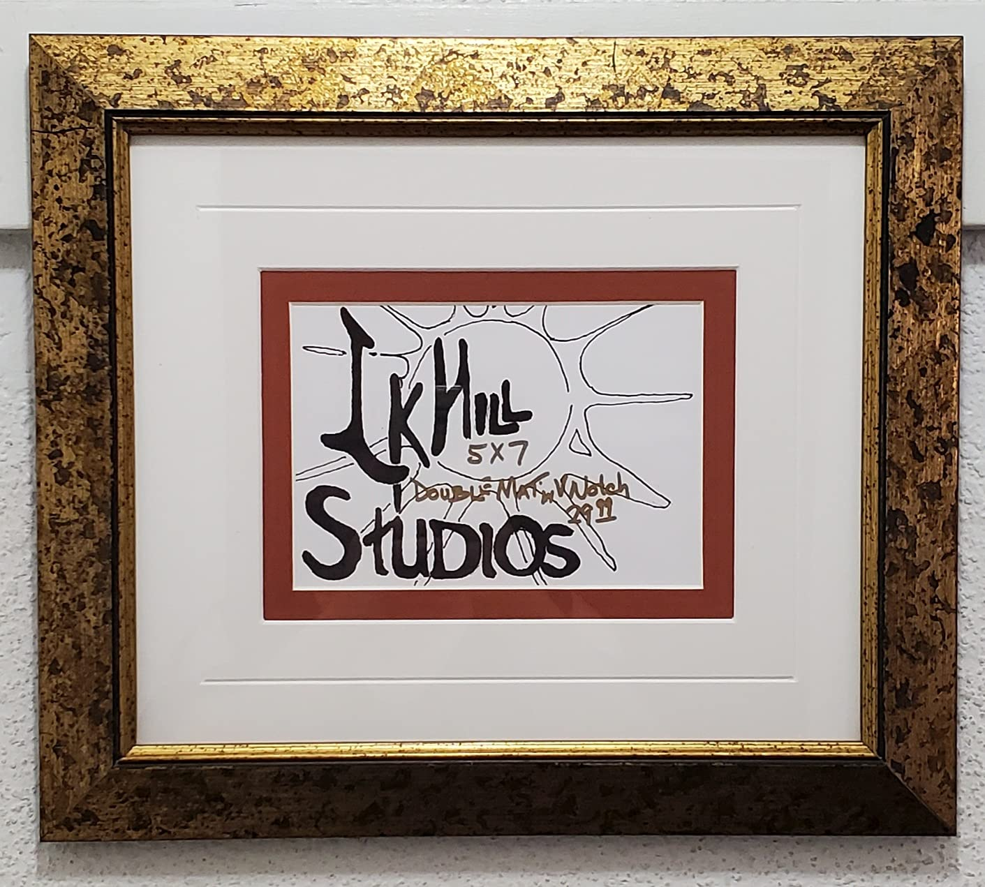Gold Speckled Picture Frame handmade K Baltimore Mall Hill Larry Boston Mall Studios by