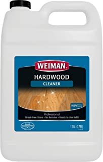 Weiman Hardwood Floor Cleaner - 128 Ounce Refill - Finished Engineered Hardwood Vinyl and Laminate Floors