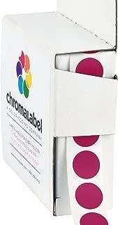 ChromaLabel 1/2 Inch Round Color Coding Labels | 1,000/Box (Magenta)