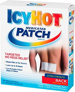 Icy Hot Medicated Patches Back and Large Areas - 5 ct, Pack of 5